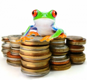 Frog on Coins