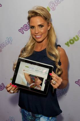 Katie Price at the YouGossip launch party